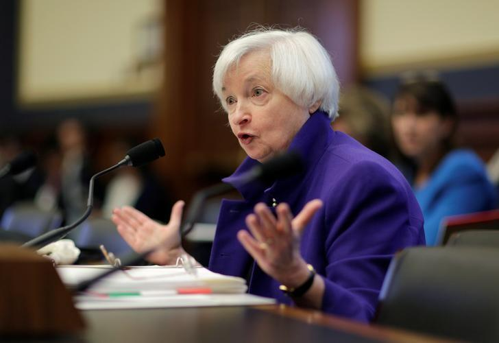 Federal Reserve Chairman Janet Yellen delivers the semi-annual testimony on the ''Federal Reserve's Supervision and Regulation of the Financial System'' before the House Financial Services Committee in Washington, U.S., September 28, 2016.      REUTERS/Joshua Roberts