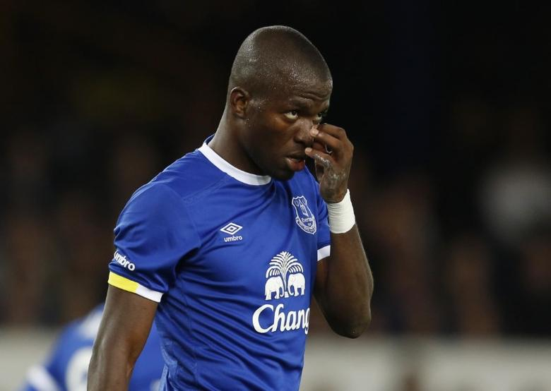 Britain Football Soccer - Everton v Norwich City - EFL Cup Third Round - Goodison Park - 20/9/16Everton's Enner Valencia  Action Images via Reuters / Ed Sykes