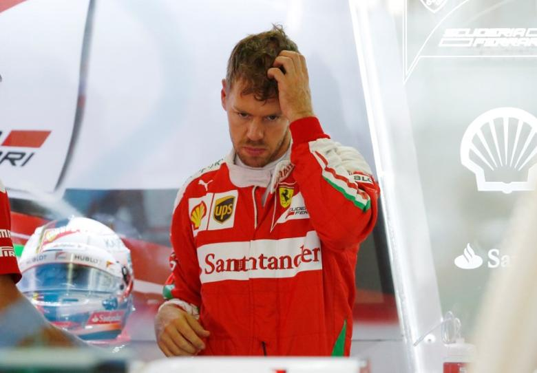 Formula One - Japanese Grand Prix - Suzuka Circuit, Japan - 8/10/16.Ferrari's Sebastian Vettel of Germany is seen during the third practice session. REUTERS/Toru Hanai