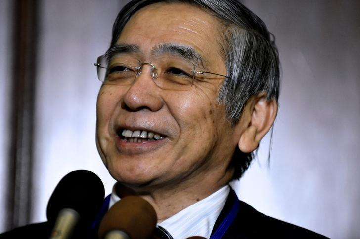 Bank of Japan Governor Haruhiko Kuroda speaks to reporters at the Willard Intercontinental Hotel during the annual meetings of the IMF and World Bank Group in Washington, October 6, 2016. REUTERS/James Lawler Duggan
