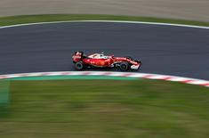 Formula One - Japanese Grand Prix - Suzuka Circuit, Japan - 7/10/16. Ferrari's Kimi Raikkonen of Finland in action during second practice. REUTERS/Toru Hanai