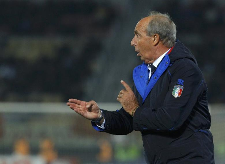 Football Soccer - Macedonia v Italy - 2018 World Cup Qualifying European Zone - Group G - Philip II of Macedon National Stadium, Skopje, Macedonia - 9/10/16 Italy's coach Giampiero Ventura reacts during the match.   REUTERS/Ognen Teofilovski