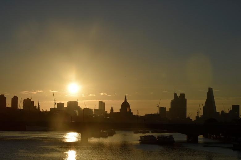 Dawn breaks over the City of London, Britain June 24, 2016.     REUTERS/Toby Melville