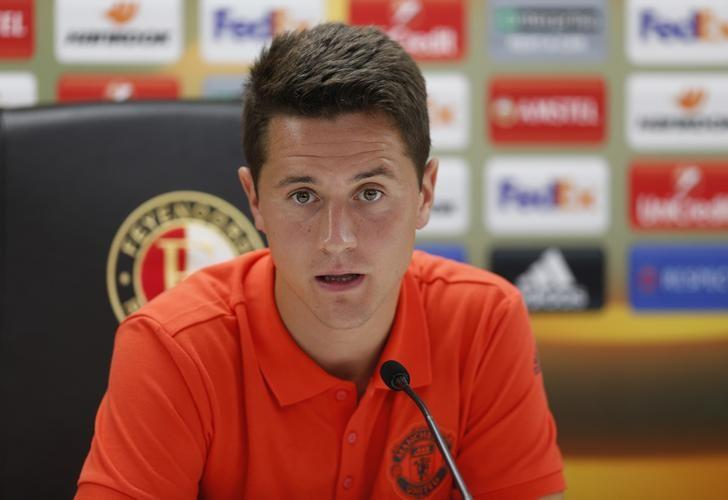 Britain Soccer Football - Manchester United Press Conference - De Kuip Stadium, Rotterdam, Netherlands - 14/9/16Manchester United's Ander Herrera during the press conferenceAction Images via Reuters / Matthew ChildsLivepic/Files