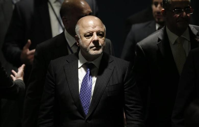 Prime Minister Haider Al-Abadi of Iraq waits to address the United Nations General Assembly in the Manhattan borough of New York, U.S., September 22, 2016.  REUTERS/Mike Segar