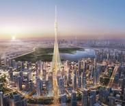 "An artist's impression of Dubai's ""The Tower"" that would be the world's tallest tower. Emaar Properties/Handout via REUTERS"