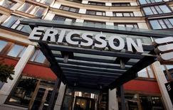 Штаб-квартира Ericsson в Стокгольме. Производитель телекоммуникационного оборудования Ericsson отчитался о падении квартальной операционной прибыли на 94 процента и снижении продаж ключевого сетевого подразделения.   REUTERS/Bob Strong/File Photo
