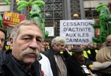 French environmentalist Jose Bove attends a demonstration as part of the World Climate Change Conference 2015 (COP21), in Paris, France, December 3, 2015.   REUTERS/Eric Gaillard