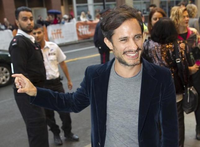 Actor Gael Garcia Bernel arrives for the premiere of the movie ''Desierto'' at TIFF the Toronto International Film Festival in Toronto, September 13, 2015. REUTERS/Fred Thornhill