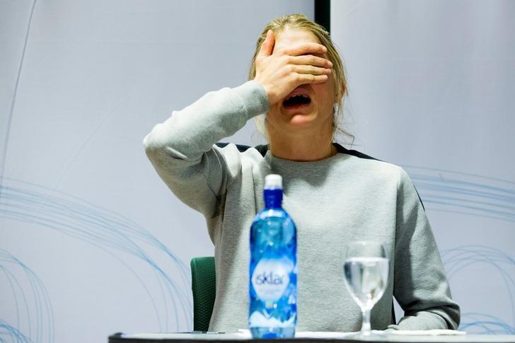 Norwegian three-time Olympic cross-country skiing medalist Therese Johaug attends a press conference in Oslo, Norway 13 October 2016. NTB SCANPIX/ Hakon Mosvold Larsen via REUTERS