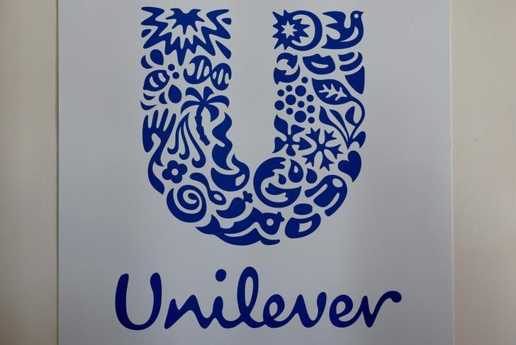The logo of the Unilever group is seen at the Miko factory in Saint-Dizier, France, May 4, 2016. REUTERS/Philippe Wojazer