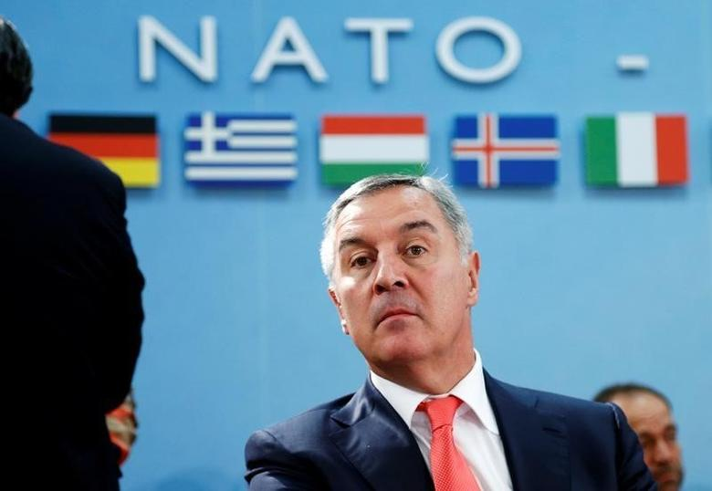 Montenegro's Prime Minister Milo Djukanovic attends a NATO foreign ministers meeting at the Alliance headquarters in Brussels, Belgium, May 19, 2016. REUTERS/Francois Lenoir