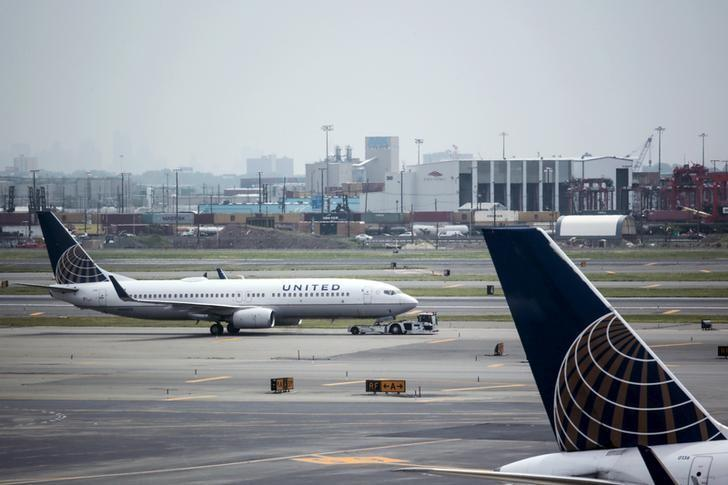 File photo of United Airlines planes seen on platform at the Newark Liberty International Airport in New Jersey, July 8, 2015. REUTERS/Eduardo Munoz