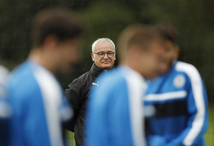 Britain Football Soccer - Leicester City Training - Leicester City Training Ground, Leicester, England - 26/9/16Leicester City manager Claudio Ranieri during trainingAction Images via Reuters / Carl Recine/ Livepic/ Files