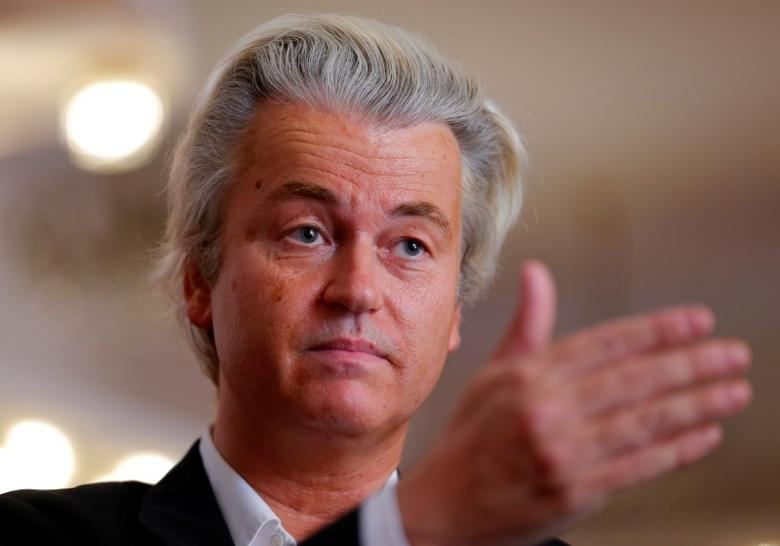 Dutch far-right Party for Freedom (PVV) leader Geert Wilders answers questions during a Reuters interview in Budapest, Hungary, June 24, 2016. REUTERS/Laszlo Balogh