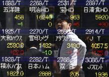 L'indice Nikkei a terminé à 16.900,12 points et le Topix, plus large, a pris 0,40% à 1.352,56 points. /Photo d'archives/REUTERS/Yuya Shino