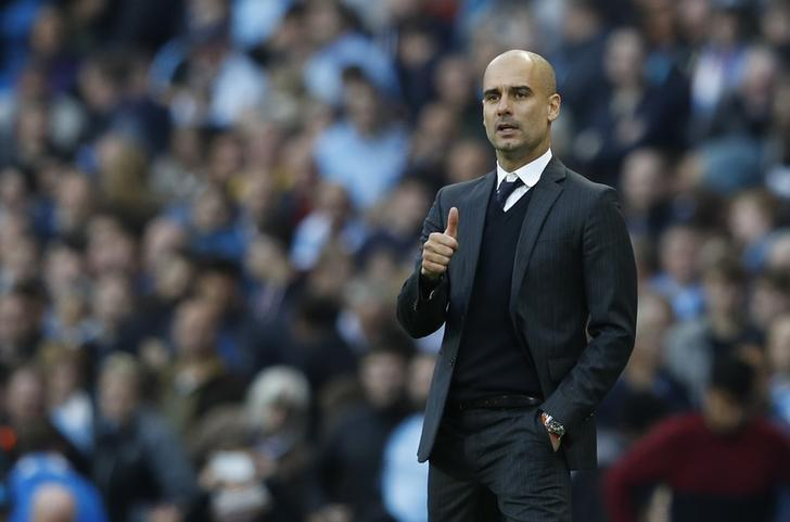 Britain Football Soccer - Manchester City v Everton - Premier League - Etihad Stadium - 15/10/16Manchester City manager Pep Guardiola Reuters / Phil NobleLivepic