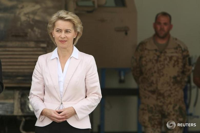 German Defence Minister Ursula von der Leyen visits the educational centre Banslawa near Erbil, Iraq, September 23, 2016. REUTERS/Azad Lashkari