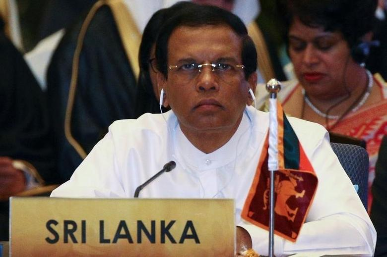 Sri Lanka's President Maithripala Sirisena attends a meeting during the Asia Cooperation Dialogue (ACD) summit at the Foreign Ministry in Bangkok, Thailand, October 10, 2016. REUTERS/Athit Perawongmetha