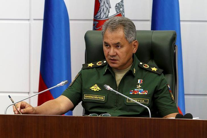 Russian Defence Minister Sergei Shoigu chairs a meeting on Syria at the Defence Ministry in Moscow, Russia, in this picture released on July 28, 2016. Vadim Savitsky/Ministry of Defence of the Russian Federation/Handout via REUTERS