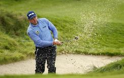Britain Golf - British Masters - The Grove, Hertfordshire - 16/10/16 England's Lee Westwood plays out of a bunker during the final round Action Images via Reuters / Paul Childs Livepic