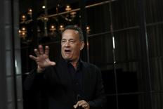 """Actor Tom Hanks attends a photocall for the film """"Inferno"""" during the 60th British Film Institute (BFI) London Film Festival in London, Britain October 12, 2016.  REUTERS/Stefan Wermuth"""