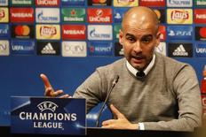 Técnico do Manchester City dá entrevista coletiva no Camp Nou, em Barcelona 18/10/2016 REUTERS/Action Images/John Sibley