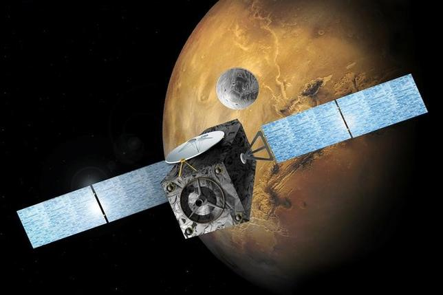 An illustration released by the European Space Agency (ESA) shows the Schiaparelli EDM lander. ESA/Handout via REUTERS