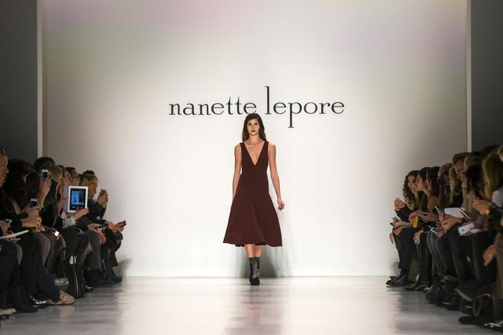 A model presents creations from the Nanette Lepore Fall 2014 collection during New York Fashion Week February 12, 2014. REUTERS/Brendan McDermi