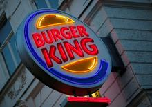 The logo of Burger King is seen outside a shop in Vienna in Vienna, Austria, October 1, 2016.    REUTERS/Leonhard Foeger/File Photo