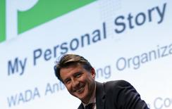IAAF's President Sebastian Coe looks on during his conference during the World Anti Doping Agency (WADA) symposium in Lausanne, Switzerland, March 14, 2016.  REUTERS/Denis Balibouse