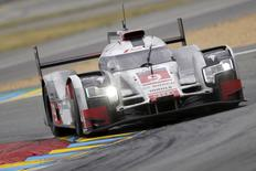 File image of Marco Bonanomi of Italy drives his Audi R18 e-tron quattro number 9 during the Le Mans 24 Hours sportscar race in Le Mans, central France June 14, 2015.  REUTERS/Stephane Mahe