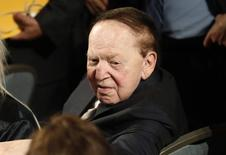 Las Vegas casino owner Sheldon Adelson attends the U.S. presidential debate between Republican U.S. presidential nominee Donald Trump and Democratic U.S. presidential nominee Hillary Clinton at Hofstra University in Hempstead, New York, U.S., September 26, 2016. REUTERS/Mike Segar