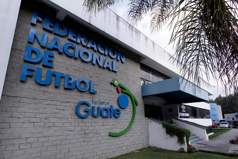 The facade of the Guatemala's soccer federation (Fedefut) building is pictured in Guatemala City, February 23, 2016.   REUTERS/Josue Decavele/File Photo