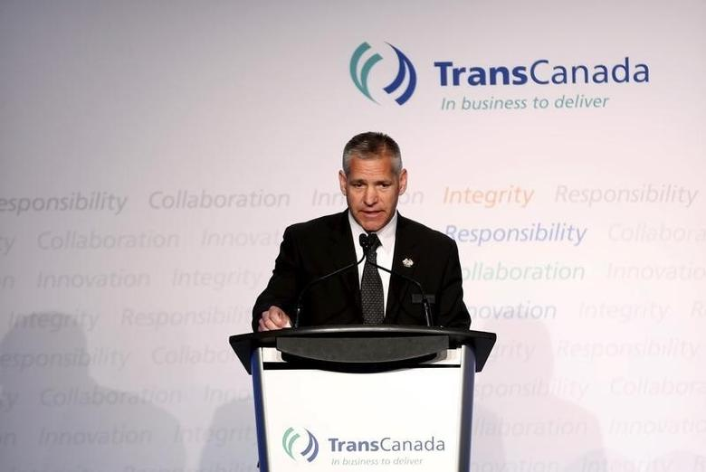 President and CEO Russ Girling of TransCanada addresses shareholders during the company's annual general meeting in Calgary, Alberta, May 1, 2015. Todd Korol