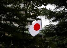 Bandeira do Japão no topo do Banco do Japão em Tóquio. 21/09/2016  REUTERS/Toru Hanai