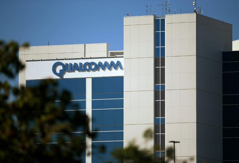 The Qualcomm logo is seen on one of its many buildings in San Diego, California, U.S., November 2, 2016.           REUTERS/Mike Blake