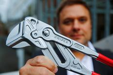 Kai Wiedemann, head of personnel of Knipex, a 130 year-old family-owned pliers and tools maker company poses for a picture in Wuppertal, western Germany, October 26, 2016. Picture taken October 26, 2016. REUTERS/Wolfgang Rattay