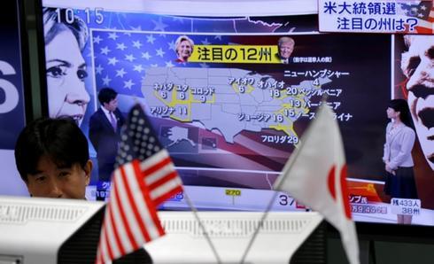 写真で見る米大統領選:日本の市場関係者らも注目