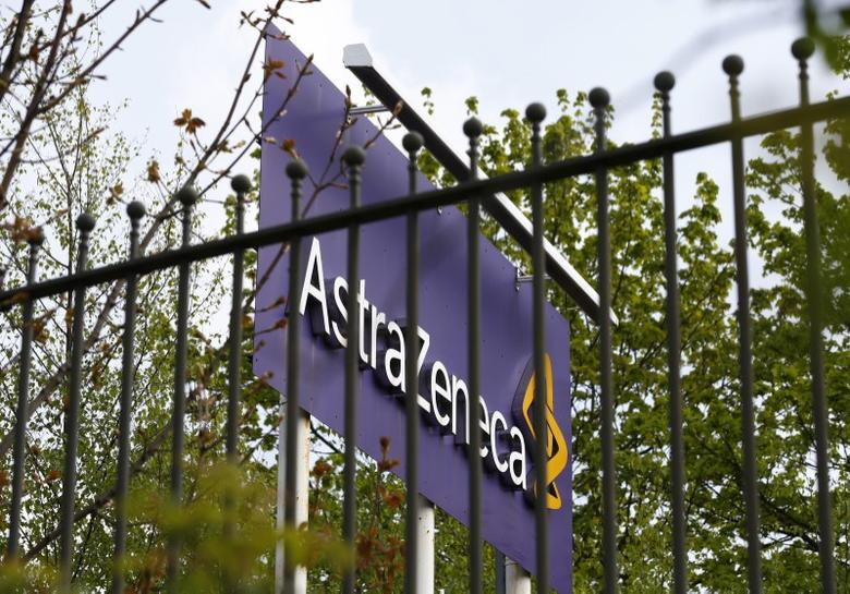A sign is seen at an AstraZeneca site in Macclesfield, central England April 28, 2014.  REUTERS/Darren Staples