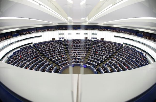 Members of the European Parliament take part in a voting session at the European Parliament in Strasbourg, France, October 25, 2016. Picture taken with a fisheye lens. REUTERS/Vincent Kessler