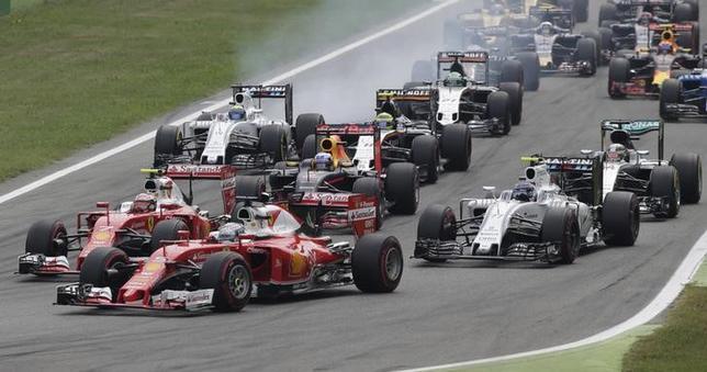 11月29日、自動車レースF1でイタリアのモンツァ・サーキットとの契約を3年間更新したことが明らかになった。9月撮影(2016年 ロイター)