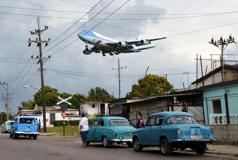 Taking off with Air Force One