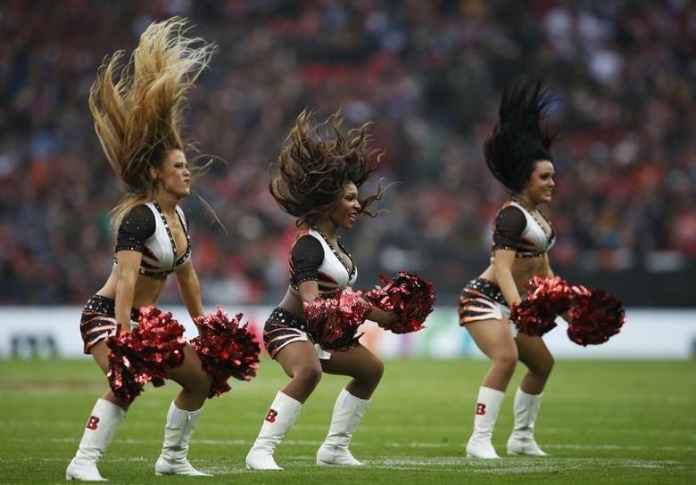 Britain American Football - Cincinnati Bengals v Washington Redskins - NFL International Series - Wembley Stadium, London, England - 30/10/16Cincinnati Bengals' cheerleadersAction Images via Reuters / Matthew ChildsLivepic