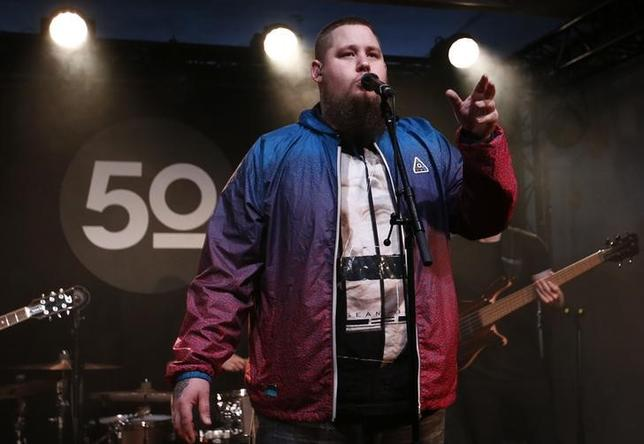 Rory Graham lead singer of British band Rag'n'Bone performs during his set at a news conference in Montreux, Switzerland, April 14, 2016. REUTERS/Denis Balibouse/Files