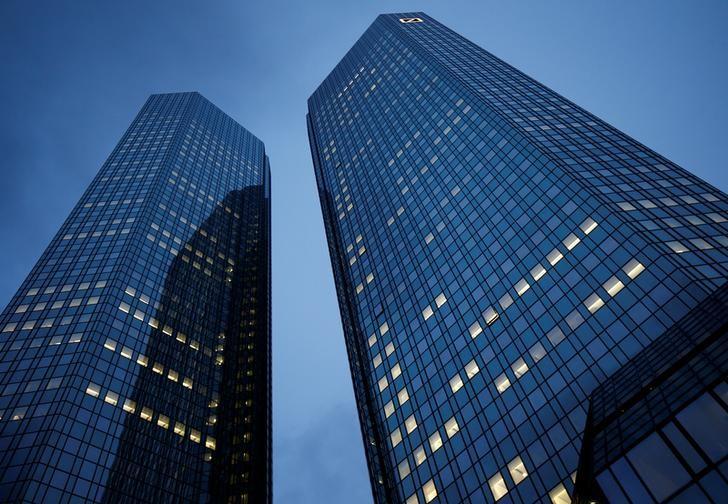 Deutsche Bank headquarters are pictured in Frankfurt, Germany, January 28, 2016.   REUTERS/Kai Pfaffenbach/Files