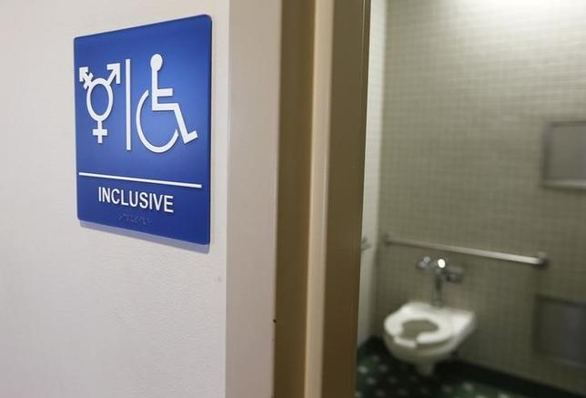 A gender-neutral bathroom is seen at the University of California, Irvine in Irvine, California September 30, 2014. REUTERS/Lucy Nicholson