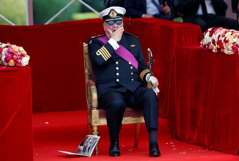 Belgium's Prince Laurent yawns as he attends the traditional military parade in front of the Royal Palace on Belgian national day in Brussels, July 21, 2016.  REUTERS/Francois Lenoir