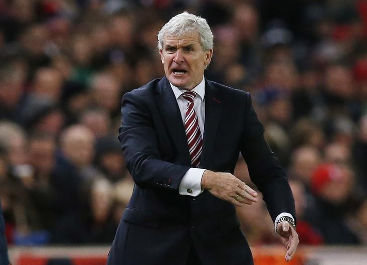 Britain Football Soccer - Stoke City v Burnley - Premier League - bet365 Stadium - 3/12/16 Stoke City manager Mark Hughes  Reuters / Andrew Yates Livepic