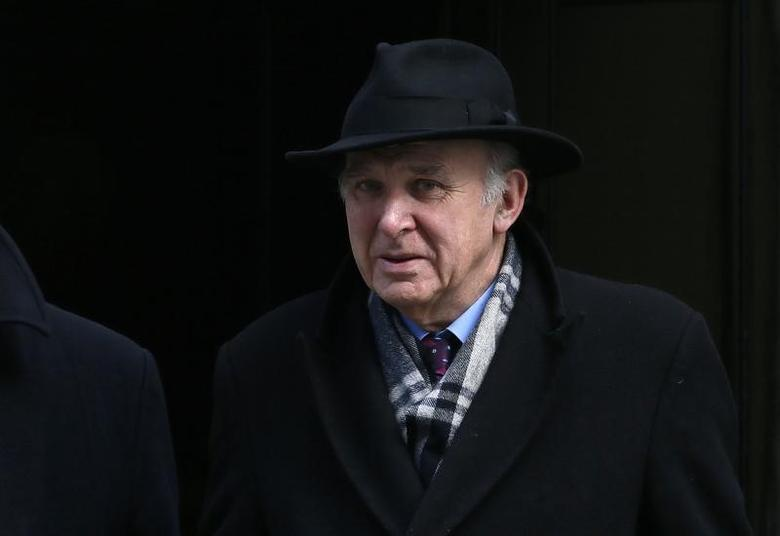 Britain's Business Secretary Vince Cable leaves 10 Downing Street in central London, March 18, 2015. REUTERS/Stefan Wermuth